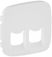 Лицевая панель информационной RJ11+RJ45 розетки белая 755425 Legrand Valena Allure