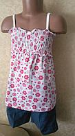 Костюм для девочки шорты +майка, фото 1