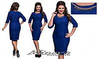 Платье женское нарядное стрейч жаккард размеры 50-56
