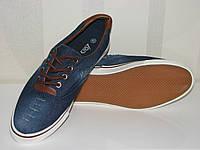 Подростковые джинсовые топ-сайдеры на шнуровке коричневые вставки