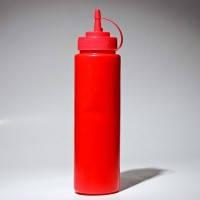 Диспенсер 700 мл красный для соусов и сиропов Empire М-7080,Николаев