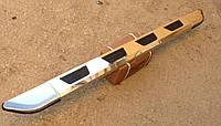 Подножки из профильной трубы на Ауди Q7 (2015+)