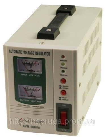 Стабилизатор напряжения LUXEON — Люксеон релейный AVR-500 (Белый, черный)