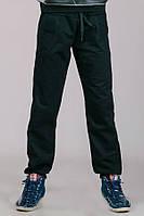 Детские штаные черные спортивные трикотажные брюки подростковые прямые Унисекс Украина 140