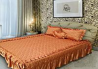Покрывало + 3 подушки для двуспальной кровати 170х200 см жаккард ТМ KRISPOL