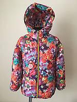 Куртка на девочку детская с флисом,демисезонная