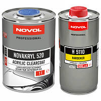 NOVOL Лак бесцветный NOVAKRYL VHS 520 (1,0л + 0,5л отв.)