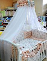 """Постельный набор в детскую кроватку """"Башня"""""""