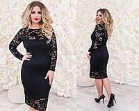 Женское гипюровое платье больших размеров в разных цветах