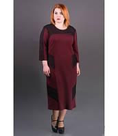 Платье большие размеры Грация р.54-60 бордо