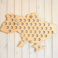 Карта пивных пробок  Ukraine Beer Cap Map