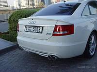 Спойлер на Audi А6 C6 (2004) Сабля 3 части