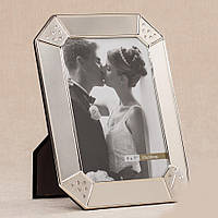 Свадебная фоторамка металлическая для фото 13х18 см