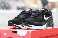 Мужские кроссовки Nike Air Max 90 Ultra Moire , черно- белые / кроссовки мужские Найк Аир Макс Ультра Муа 2017