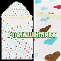 Детская трикотажная пеленка 80х80 с уголком после купания новорожденного 100% хлопок (капитон) 3392 Салатовый