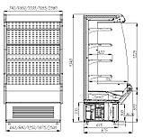 Холодильная горка CRETE F 20-08 VM 1,9-2 (Carboma ВХСп-1,9), фото 2