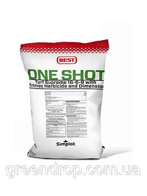 Удобрение для газона с гербицидом - One Short 16-6-8 with Dimension (22,68 кг) Simplot (США)