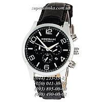Практичные мужские наручные часы  Montblanc TimeWalker Automatic Black-Silver-Black