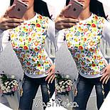 Женский стильный свитшот ( разные расцветки), фото 5