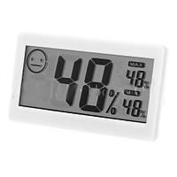 Термометр комнатный электронный DC-206: гигрометр, -10 +50°C, батарейка AG13, 88х48х17 мм