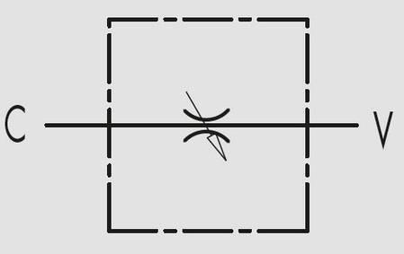 """Дроссель без обратного клапана VRFB 90° 1"""" (Италия), фото 2"""