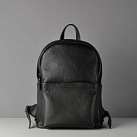Кожаный рюкзак большой Carbon Blak