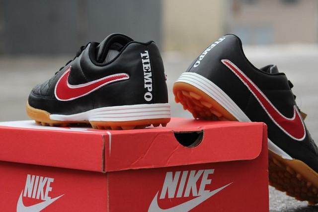 Футбольные сороконожки Nike Tiempo Genio TF Black/Crimson/White