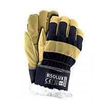 Перчатки утеплённые хб+спилок RSO-LUX