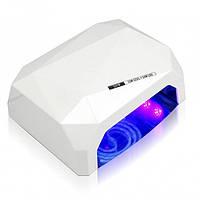 Кристалл многогранник УФ LED+CCFL (36 Вт) гибридная лампа для гель-лаков и геля 10, 30 и 60 сек Белая