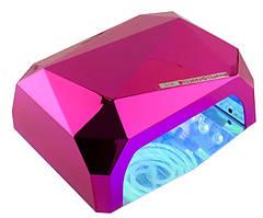 Кристалл многогранник УФ LED+CCFL (36 Вт) гибридная лампа для гель-лаков и геля 10, 30 и 60 сек Фиолетовая