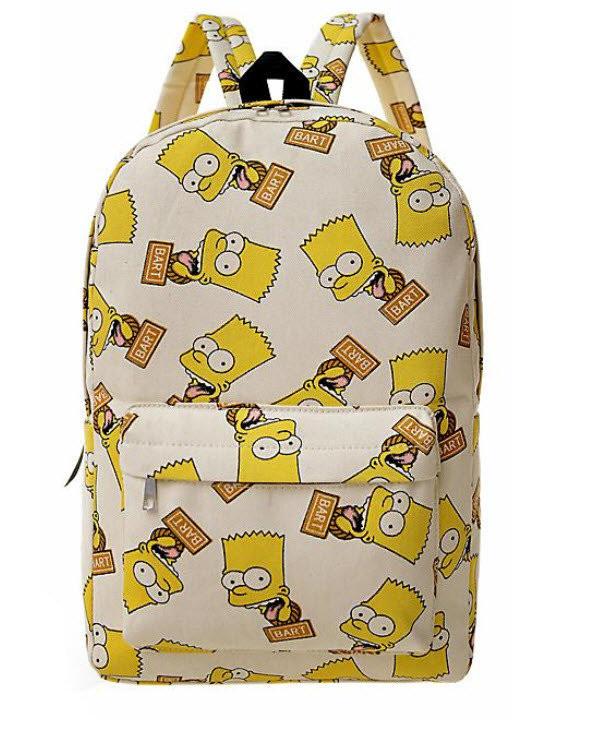 fe329bc5c54a Большой компактный яркий рюкзак Барт Симпсон. Стильный принт. Хорошее  качество. Доступная цена.