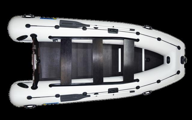 Большие лодки пвх под мотор - лодки для моря, рыбалки - большие надувные лодки с жестким дном - лодки omega 400 KU LUX