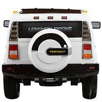 Детский электромобиль Джип Hummer M 3280 EBLR белый, мягкое сиденье, амортизаторы, двери, EVA, ручка-чемодан, фото 3
