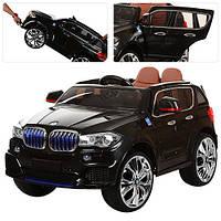 Детский электромобиль с планшетом и кож. сиденьем BMW X5 NEW M 2762 EBLR-2 (MP4) черный