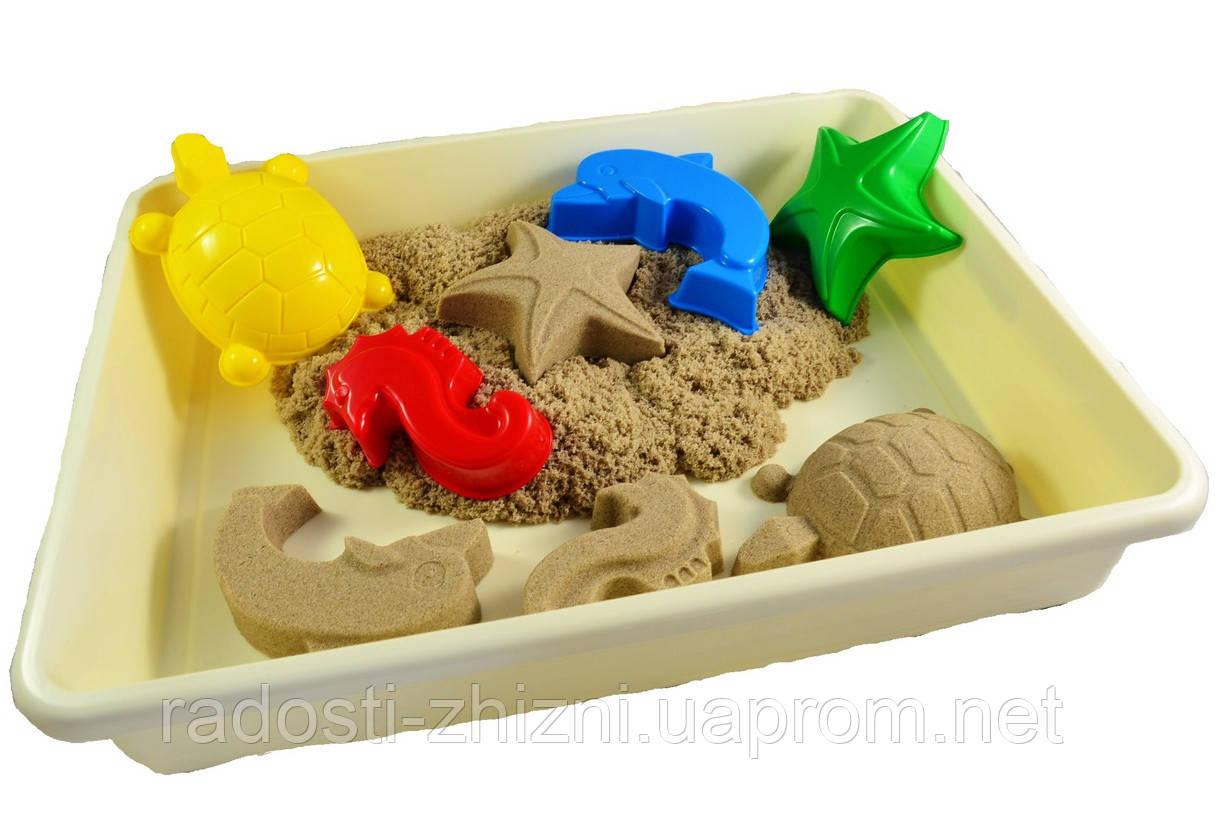 """Кинетический песок WABA FUN в наборе """"Водный мир"""""""
