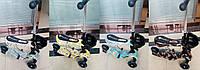 Самокат BT-KS-0084 3-х кол.пластик.с сиденьем+корзина 4цв.свет.PU 120мм 34*13см 3,33кг кор.ш.к