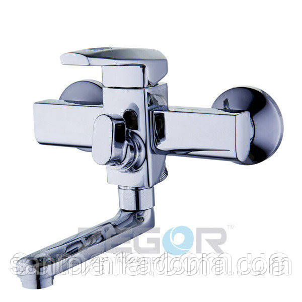 Смеситель для ванны короткий гусак, Z65-NOF3 ZEGOR (TROYA)