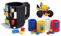 Чашка конструктор Lego Чёрная, фото 1