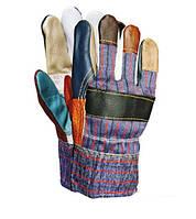 Перчатки утеплённые кожа+ткань RLKOPAS