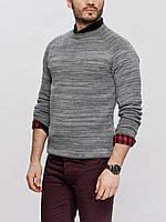 Мужской свитер LC Waikiki светло-серого меланжевого цвета L