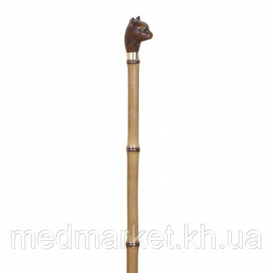 Трость Garcia Artes,древесина бамбука.рукоять в виде головы кота