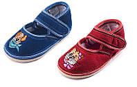 Туфли домашние детские Трикотаж липучка вишивка Литма, фото 1