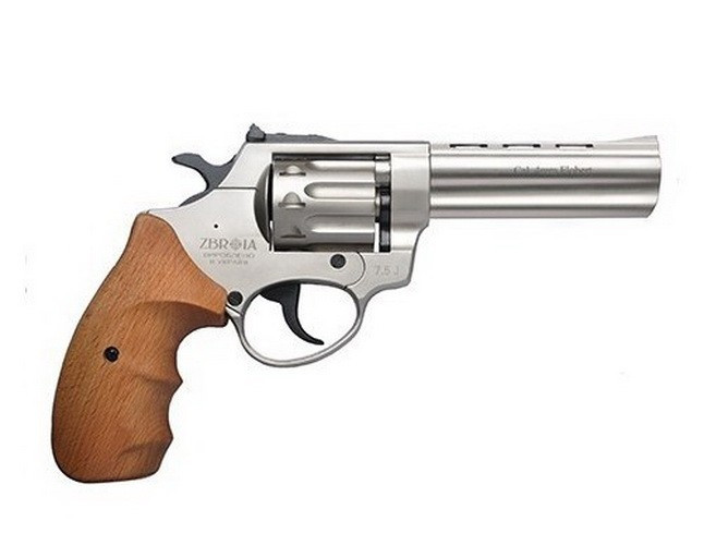 "Револьвер Zbroia Profi 4.5"" (сатин/бук) под патрон флобера 4мм"