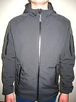Куртка тактическая, Soft Shell, черная, ветровка