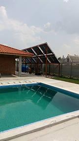 Солнечные коллектора для нагрева бассейна, отопление (частично) и ГВС. 11