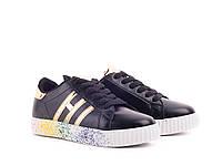 Женская обувь оптом. Женские кеды оптом от фирмы Violeta 60-8 black-gold (8пар, 36-41)