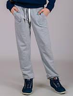 Детские трикотажные штаны спортивные брюки подростковые серые прямые Унисекс Украина