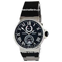 Часы Ulysse Nardin Maxi Marine (Механика) Black/Silver. Класс: AAA