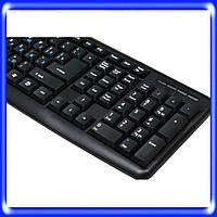 Клавиатура проводная USB,  KB-107, 107 кнопок офисная, черн