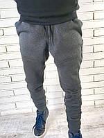 Теплые зауженные брюки M, антрацит